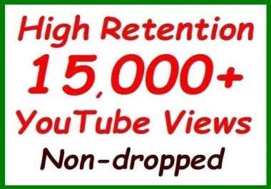 10,000+ to 12,000 YouTube Veiws fully safe+300 video Lik es extra all non-dropped guaranteed