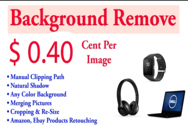 Remove 75 photos Background Within 12 Hours