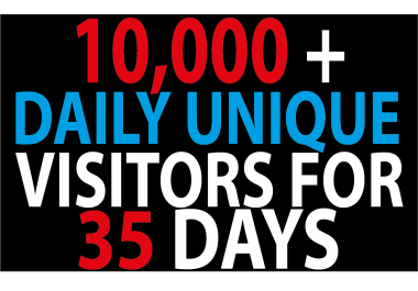 10000 -11000 Daily Traffic to Your website For 35 Days BY Google Twitter Youtue and many more