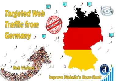Send 20.000 Germany web visitors real targeted geo traffic