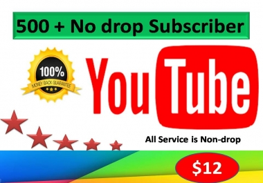 Get 500+Real Subscribrers  for your Channel with very fast 24-72 Hours Delivery