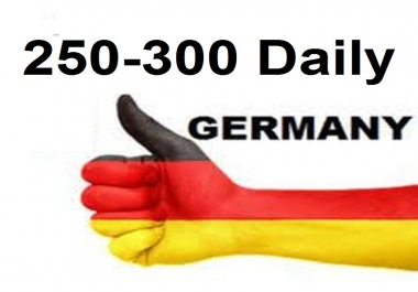 Provide more than 350 daily Germany traffic for one month