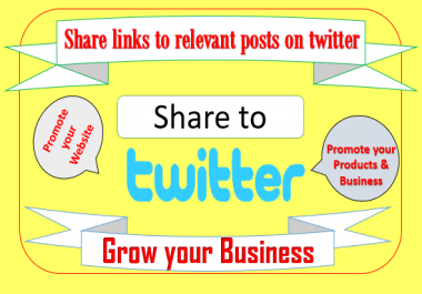 I can share your links to 200 relevant posts on twitter manually
