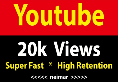 instant 20000 Youtube Vieews Fully Safe Non Drop
