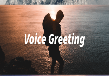 record your IVR or voicemail greeting with french accent