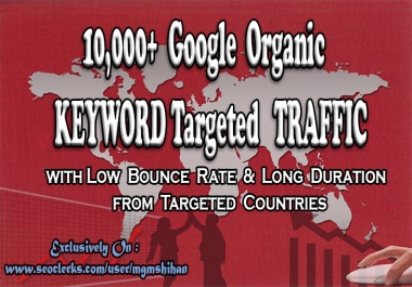 10K KEYWORD Targeted TRAFFIC from Google Search Engine