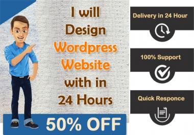 I Design Wordpress Responsive Website In 24 Hour