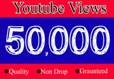 Split 50k+ Non drop YouTube Views+500 Likes to your Channels videos within 12-14 hours