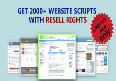 2000+  Ready made Websites and Php Websites with Resell rights