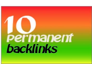 10 Manual Permanent Backlinks High TF CF DA PA+