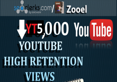 Non drop 5000+ Video views HR Best for SEO