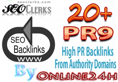20+ PR9  Backlinks From Authority Domains only