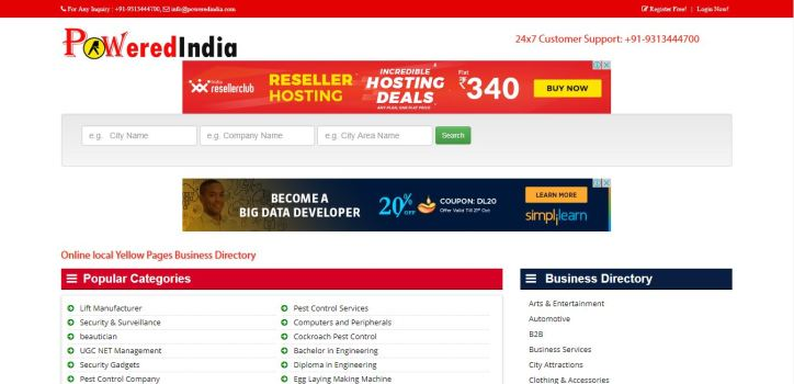 Online local Yellow Pages Business Directory