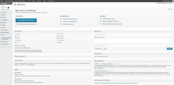 Pannello di amministrazione WordPress