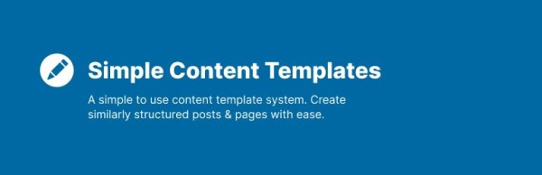 Simple Content Templates