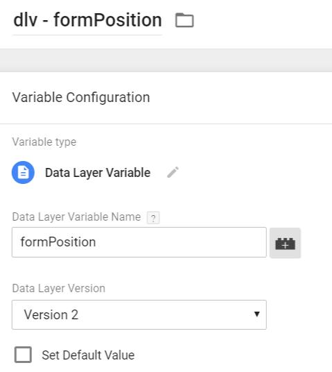 DLV – formPosition
