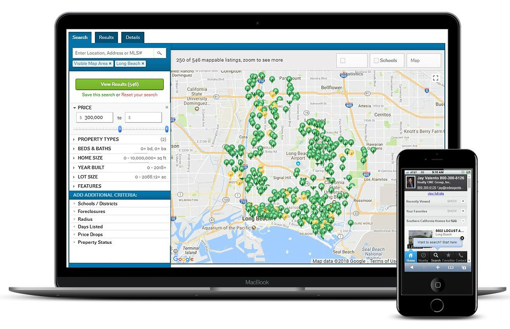 Southern California Homes Search Mapping IDX