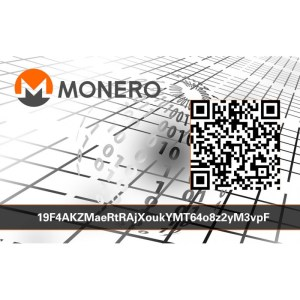 MONERO XMR PVC Card wallet Vorderseite