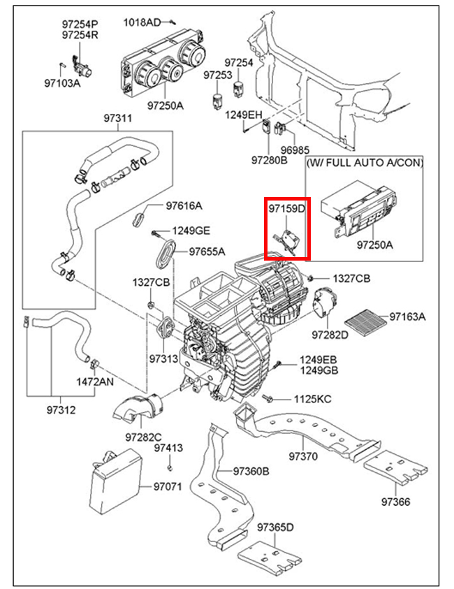 2008 hyundai santa fe wiring diagram 2004 chevy aveo serpentine belt ac hvac database 2005 2009 tucson heater blend door actuator motor 97159 examples of diagrams