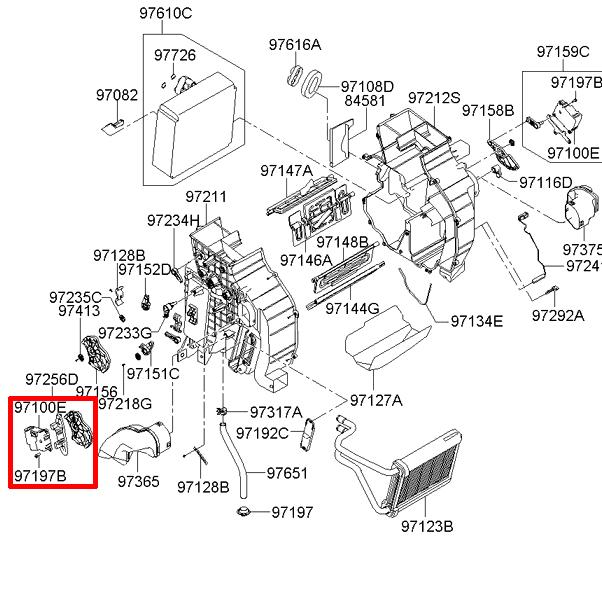 KIA 2009-2010 Sportage Heater Control Mode Actuator