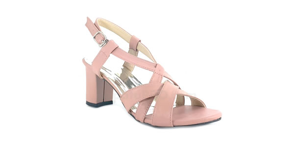 Heels Cross Multi Strap Pink