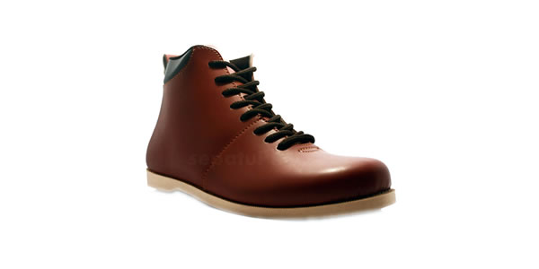 D-Island Shoes Bizarre Casual Leather Brown