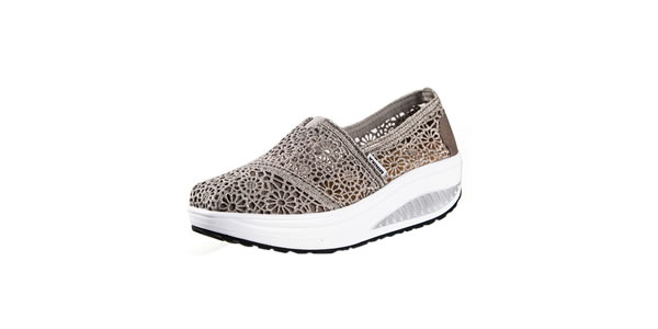 UShoes U100517 Women Fashion Wedge Sneakers Sport Shoes
