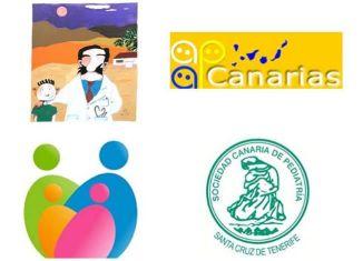 Logos sociedades científicas pediátricas de Canarias