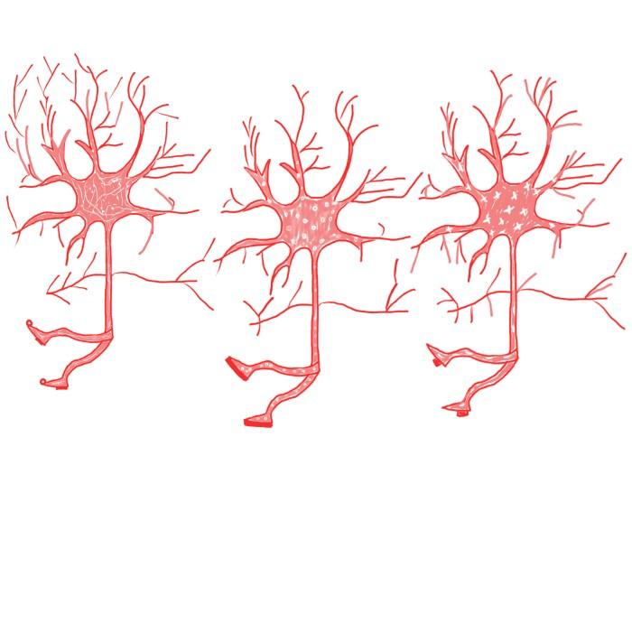 pink dancing neurons