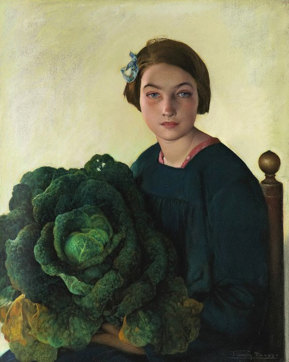 Firmin Baes girl and the cabbage