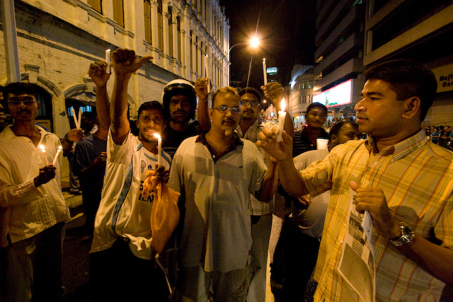 Photo by Preston Merchant: HINDRAF supporters protesting the Internal Security Act in Kuala Lumpur, January 5, 2008