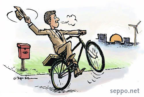 Bike to Work Week  Environmental Cartoons