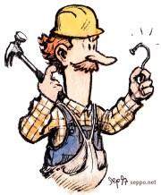 labour - construction worker solving