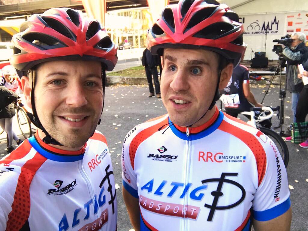 Sepp und Tobi nach dem Rennen