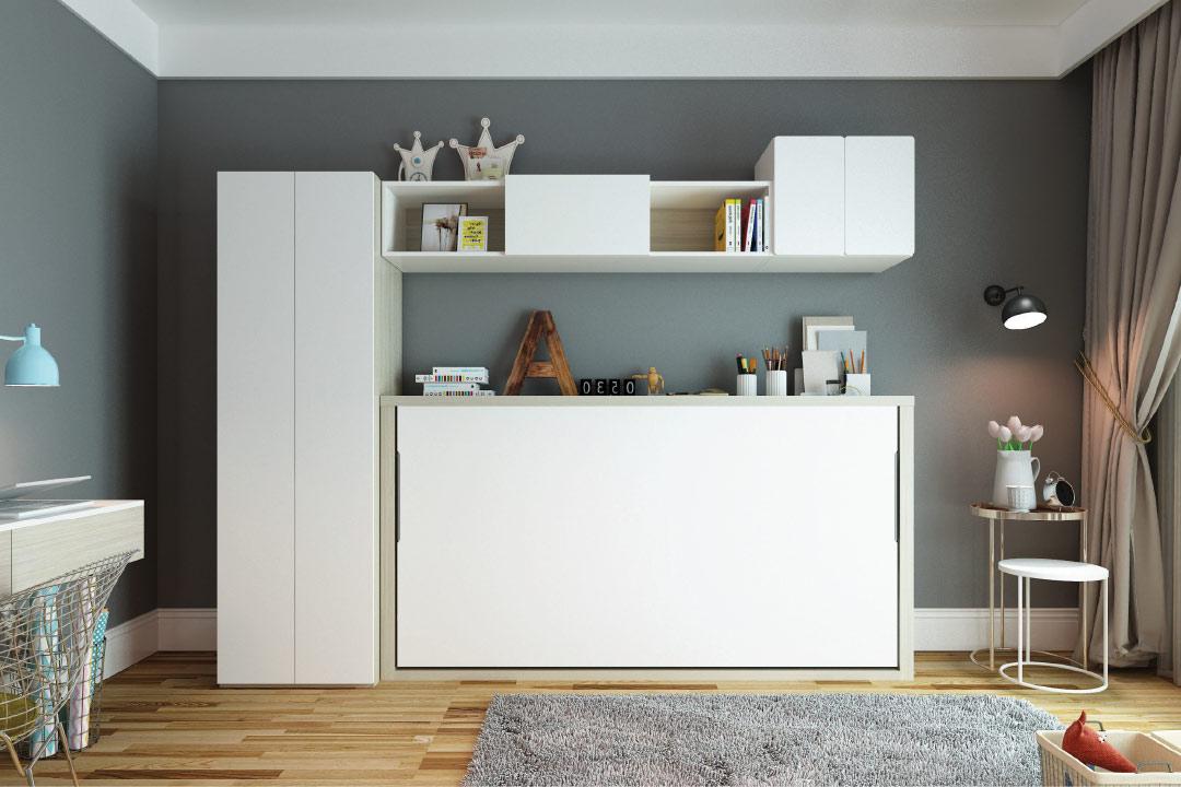 Horizontal Tilting Single Bed Sepsion Wall Beds Murphy Beds Foldout Beds Sofa Beds