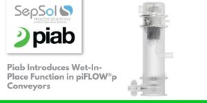 Piab Introduces Wet-In-Place Function in piFLOW®p Conveyors