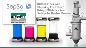 Russell Finex Self Cleaning Eco Filter® Brings Efficiency and Safety to the Inx Process