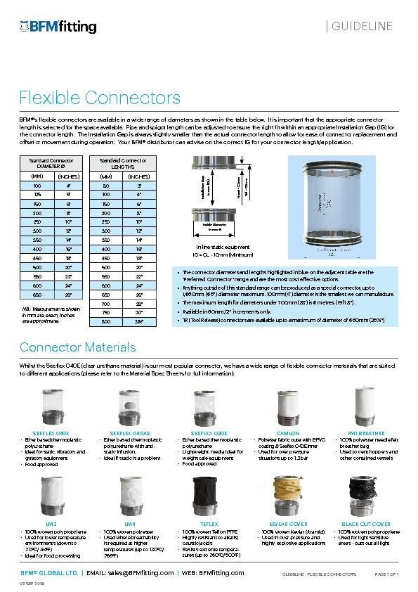 BFM Flexible Connectors Guidelines