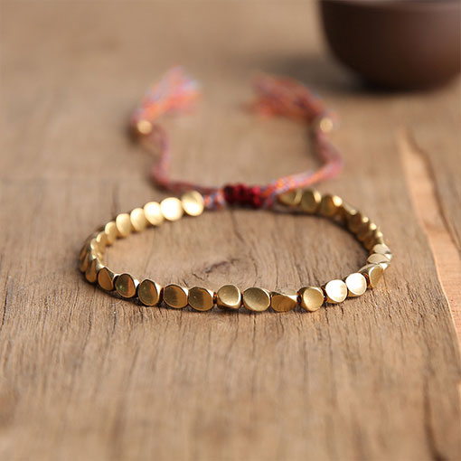 Bracelet Tibétain Doré