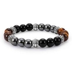 Bracelet Oeil de Tigre Triple Protection
