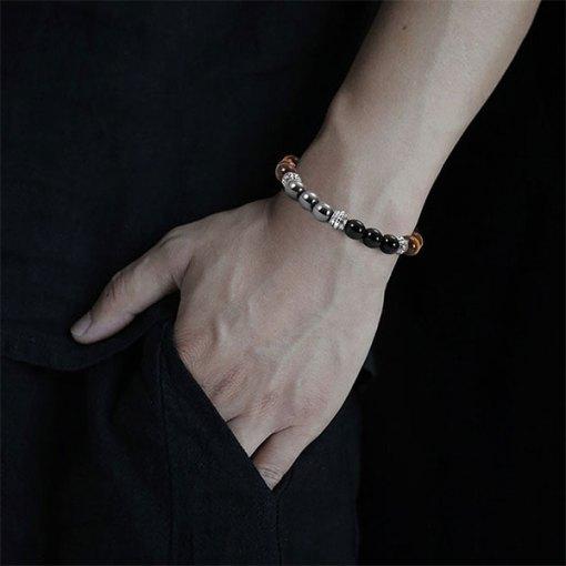 Bracelet Oeil de Tigre Triple Protection