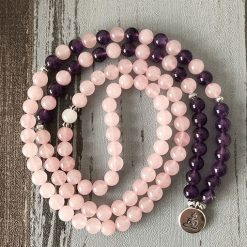 Mala Quartz Rose Bouddha