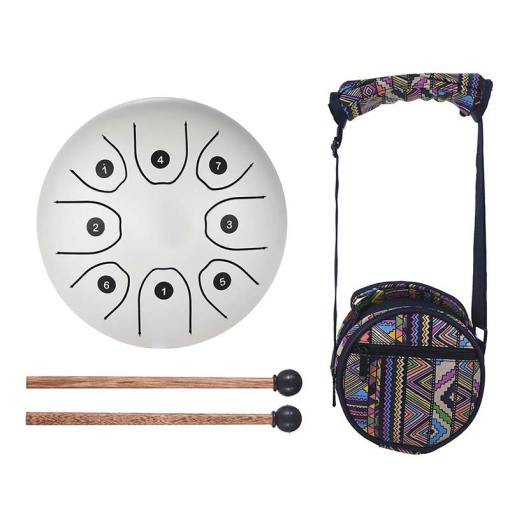 Steel Tongue Drum Blanc - Sept Chakras