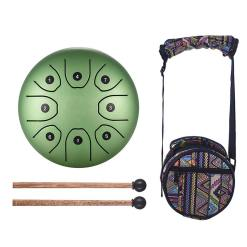Steel Tongue Drum Vert - Sept Chakras