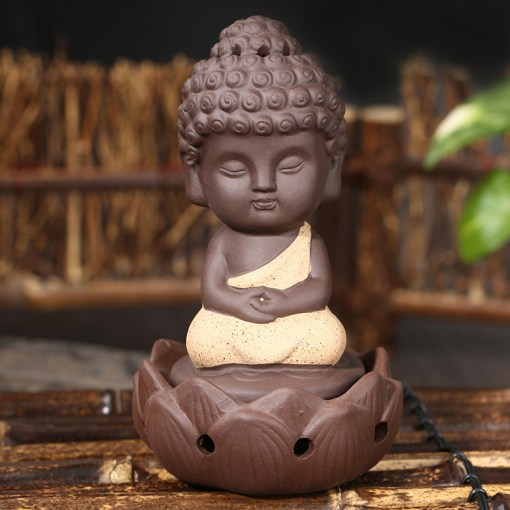 Porte-Encens Bouddha Robe Jaune