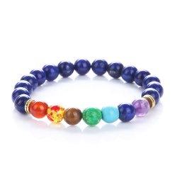 bracelet 7 chakras du bonheur en lapis lazuli