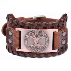 Bracelet Manchette Arbre de Vie Odin bronze