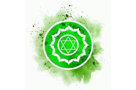Symbole chakra du coeur vert