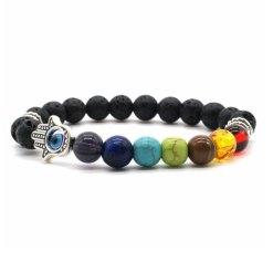 Bracelet 7 chakras main de Fatma