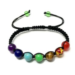 bracelet 7 chakras authentique 8mm